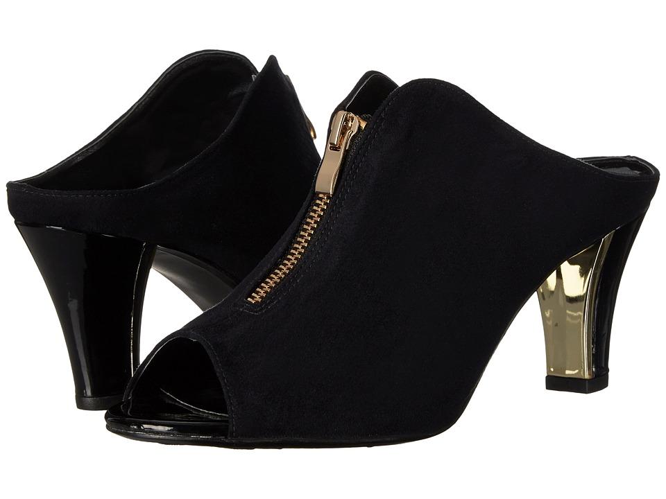 J. Renee - Franca (Black Suede) Women's Shoes