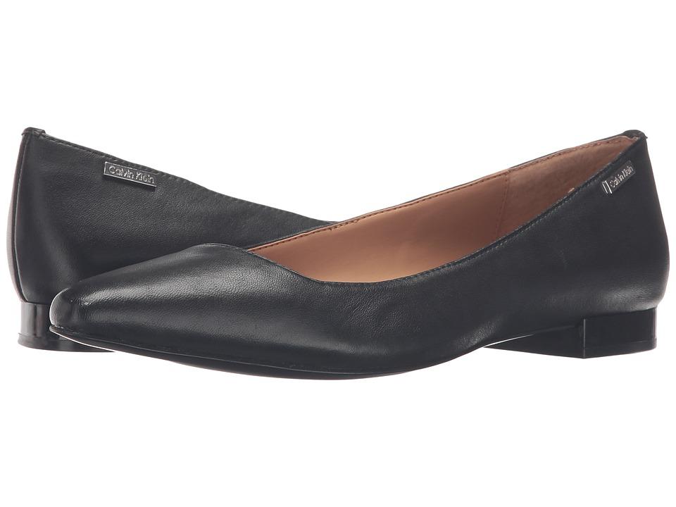 Calvin Klein - Ellasandra (Black/Black) Women's Dress Flat Shoes