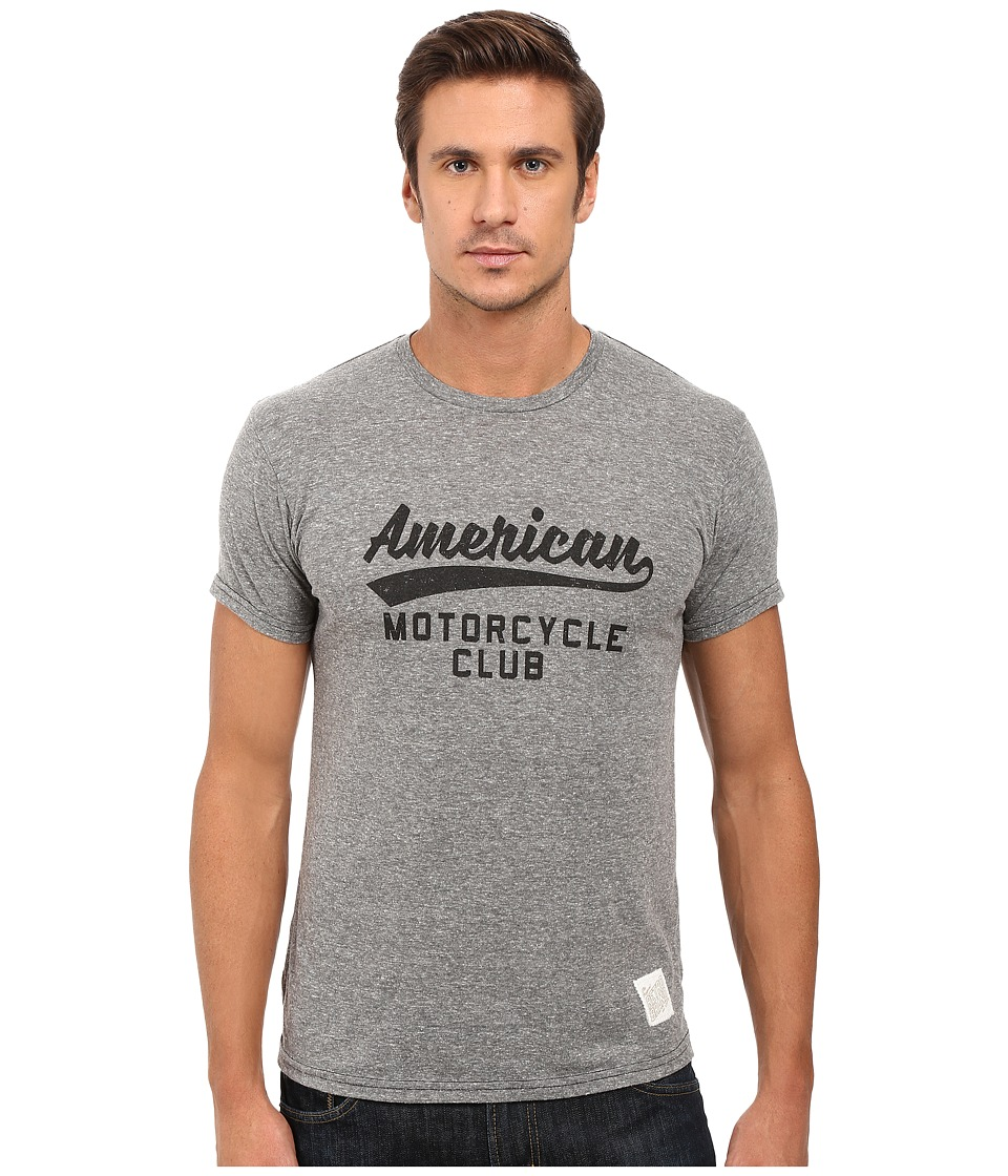 The Original Retro Brand - Short Sleeve Tri-Blend American Motorcycle Club (Streaky Grey) Men's T Shirt
