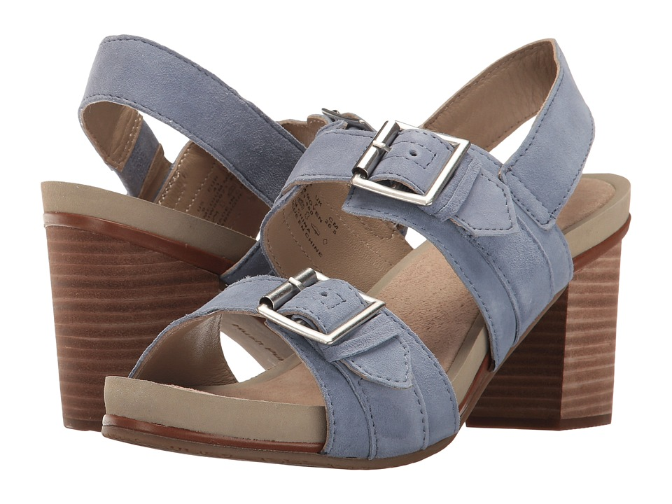 Hush Puppies - Leonie Mariska (Powder Blue Suede) Women's Wedge Shoes