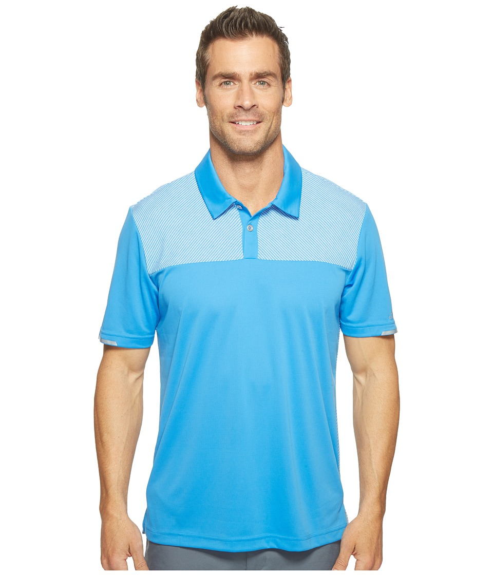adidas Golf - Climachill Heather Block Competition Polo (Blast Blue) Men's Short Sleeve Pullover