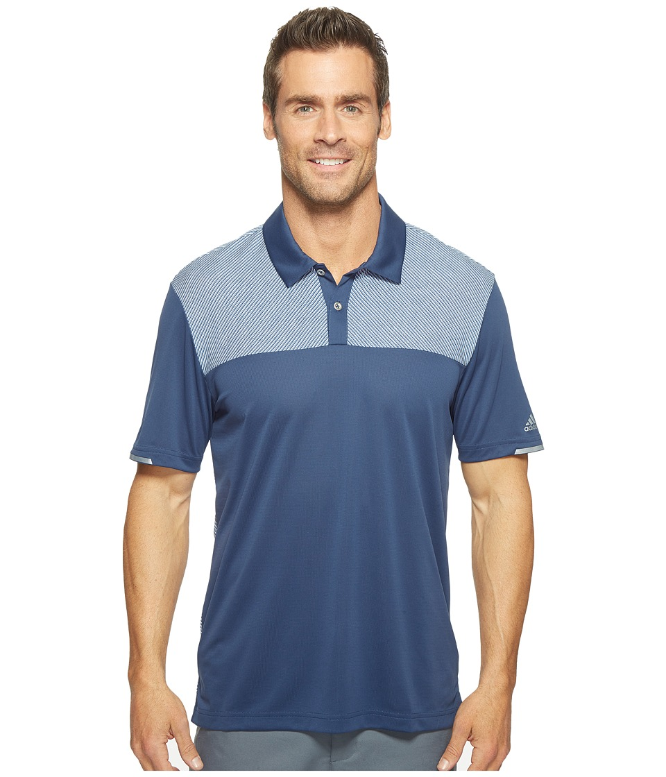 adidas Golf - Climachill Heather Block Competition Polo (Dark Slate) Men's Short Sleeve Pullover