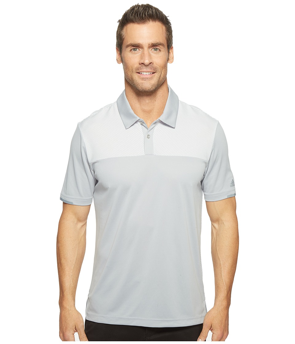 adidas Golf - Climachill Heather Block Competition Polo (Mid Grey) Men's Short Sleeve Pullover