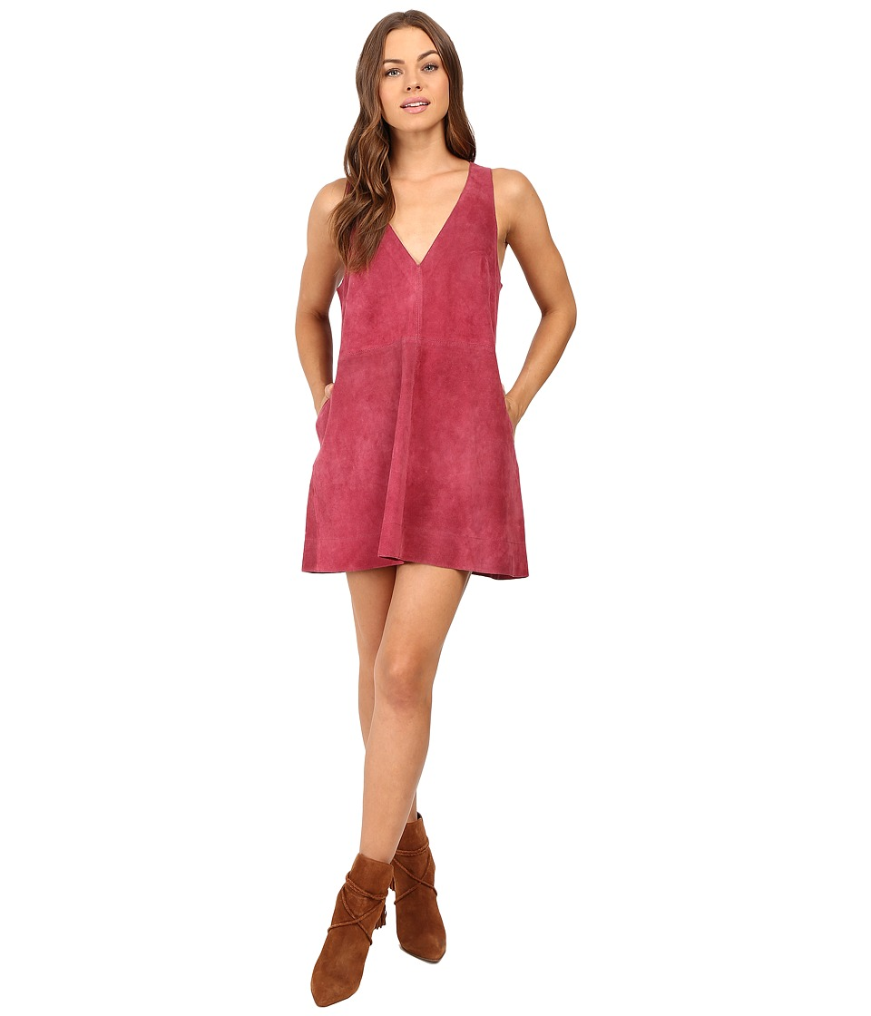 Free People - Retro Love Suede Dress (Rose) Women's Dress