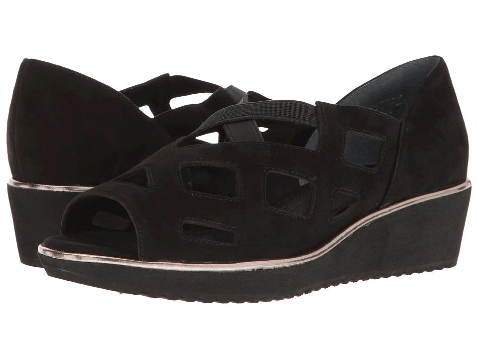 J. Renee - Valenteena (Black Suede) Women's Shoes