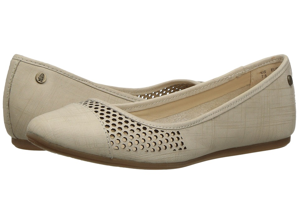 Hush Puppies - Liza Heather (Birch Crosshatch Nubuck Perf) Women's Flat Shoes