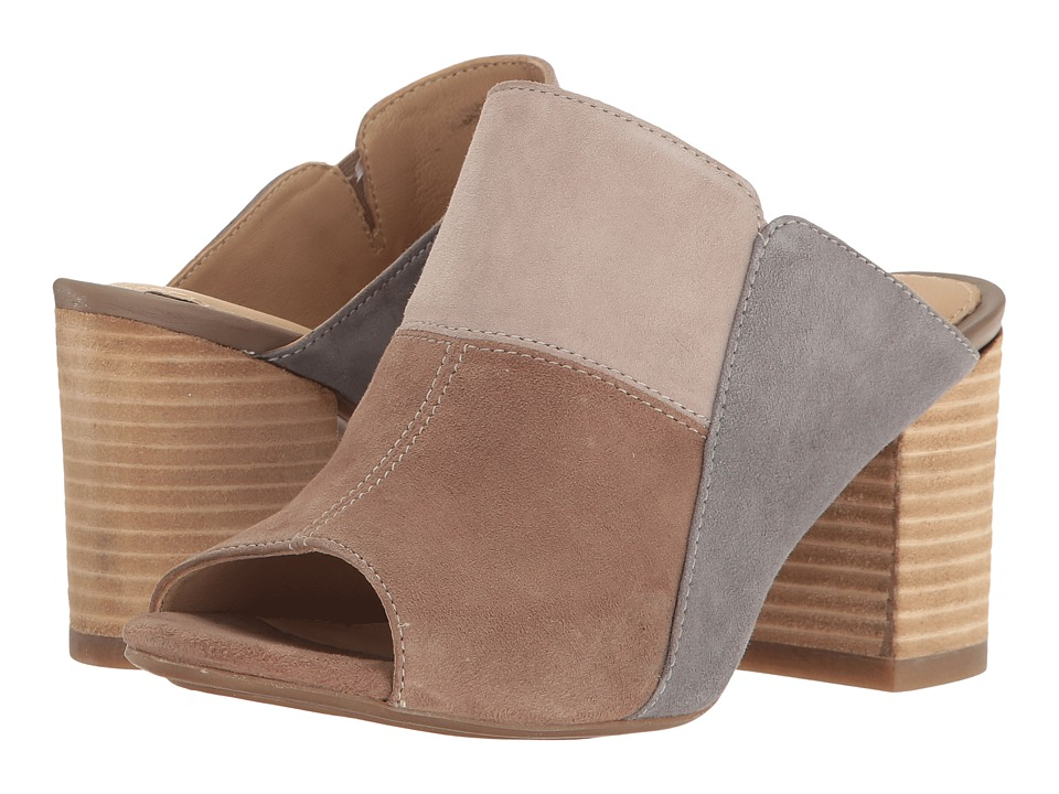Hush Puppies - Sayer Malia (Taupe Multi Suede) Women's Wedge Shoes