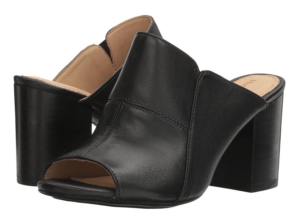 Hush Puppies - Sayer Malia (Black Leather) Women's Wedge Shoes