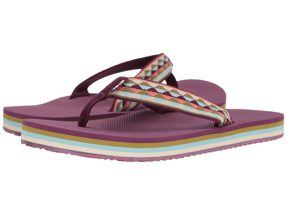 Teva Deckers Flip (Magical Leaves Purple) Women