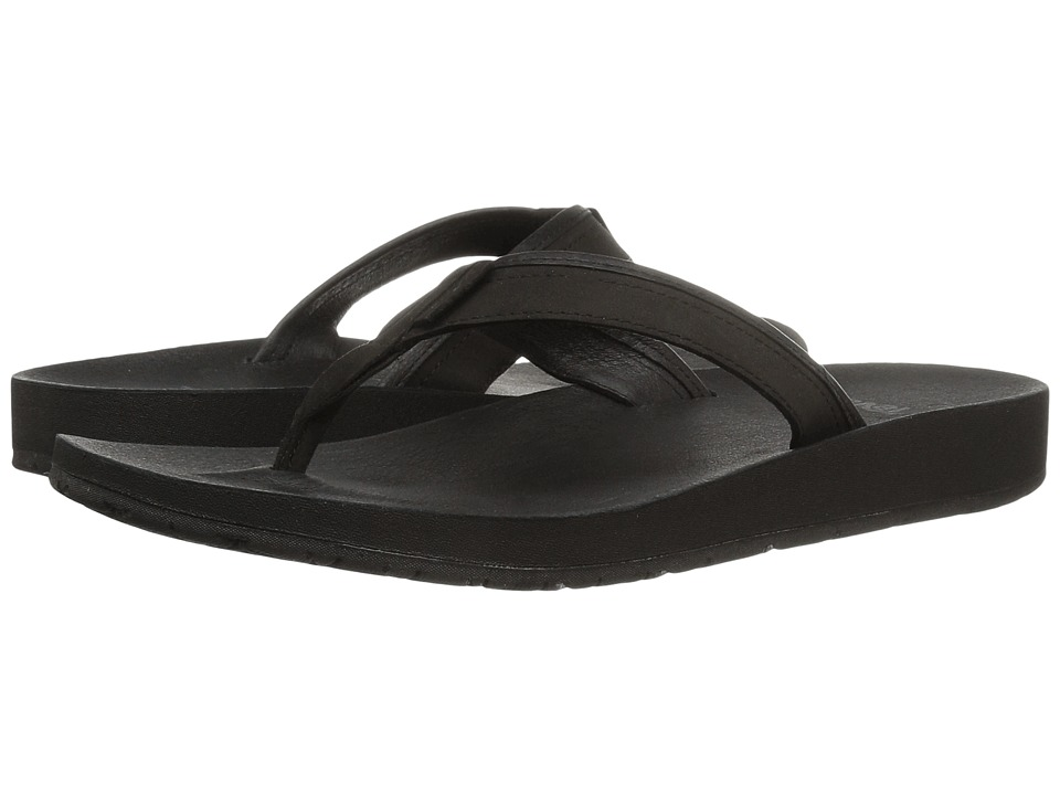 Teva Azure Flip Leather (Black) Women