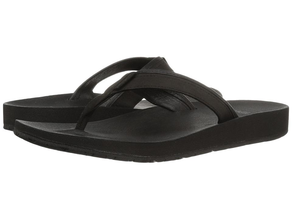 Teva Azure Flip Leather (Black) Women