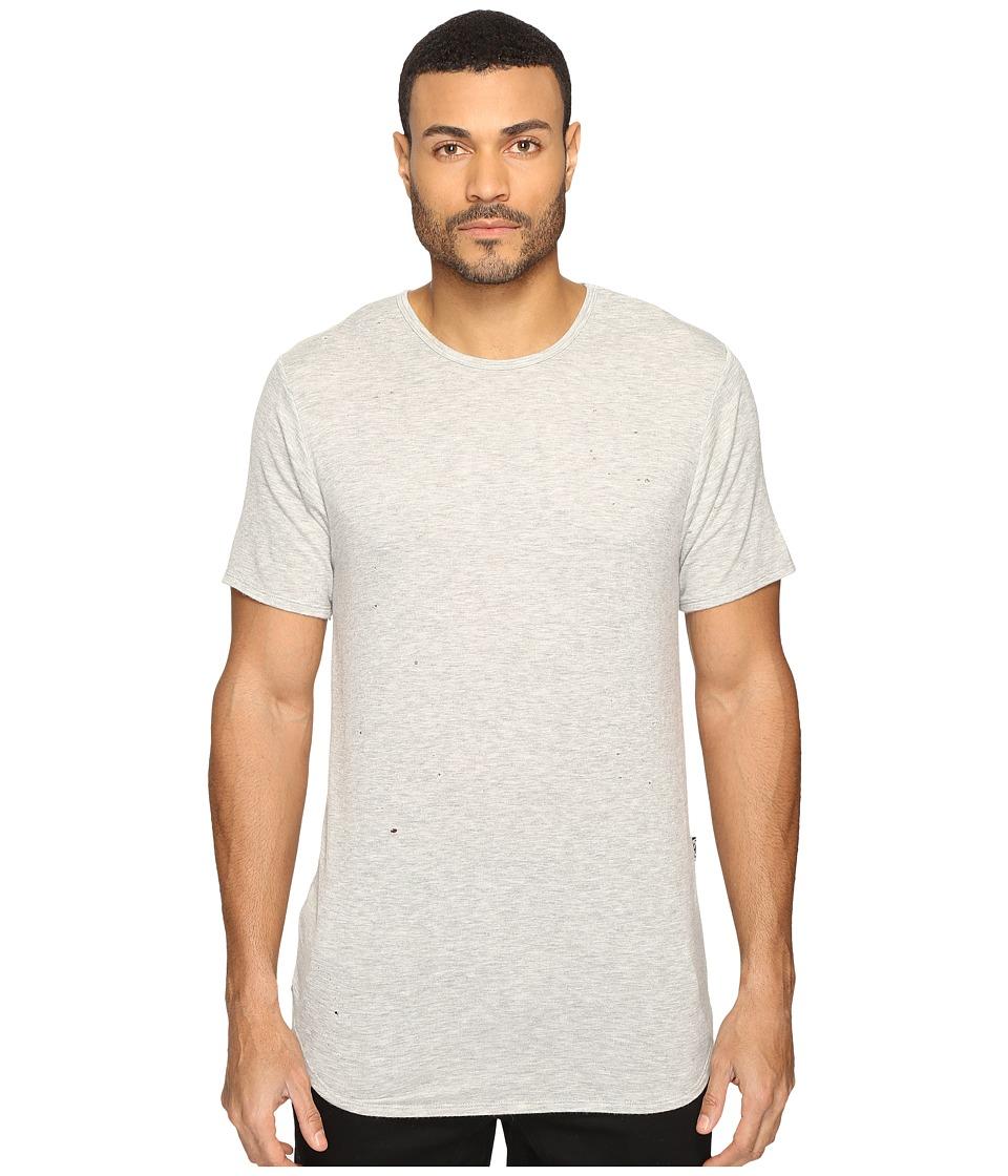 Rustic Dime Shotgun Distressed Long Tee (Heather Grey) Men's T Shirt