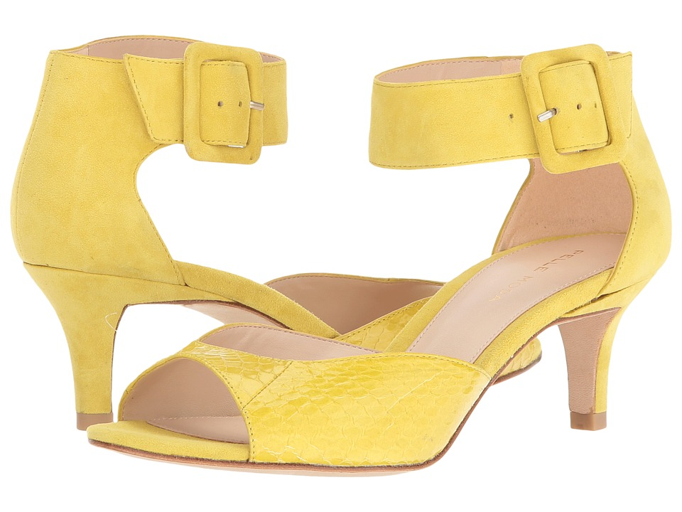 Pelle Moda - Berlin (Citrus Snake/Suede) High Heels