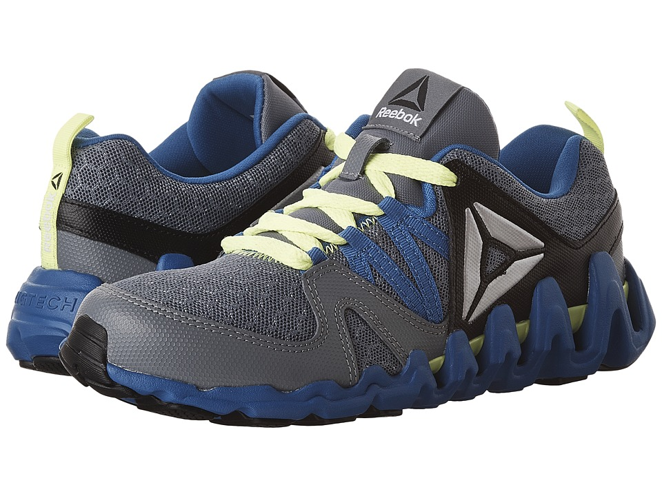 Reebok Kids - Zig Big N' Fast Fire (Big Kid) (Asteroid Dust/Silver Metallic/Awesome Blue/Black/Yellow) Boys Shoes