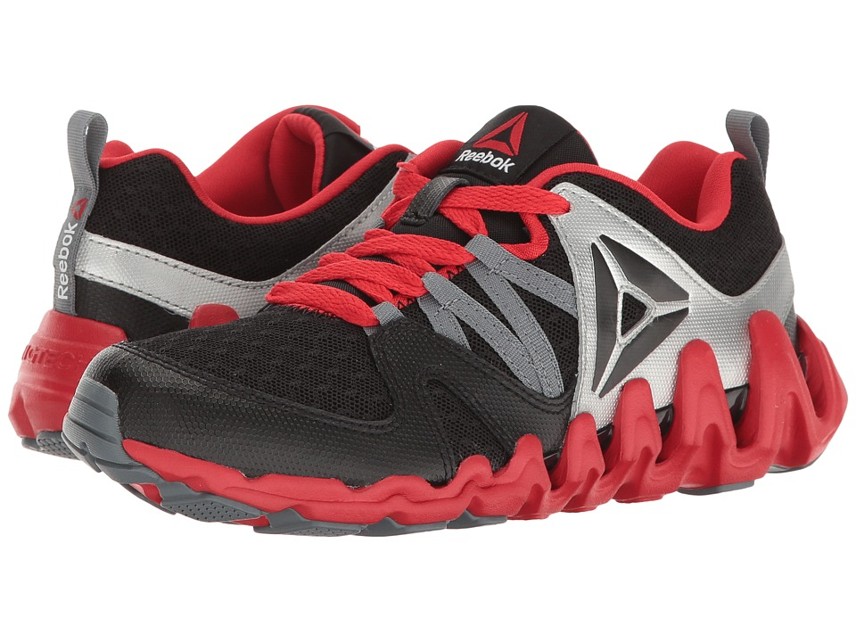 Reebok Kids - Zig Big N' Fast Fire (Big Kid) (Black/Silver Metallic/Primal Red/Asteroid Dust) Boys Shoes