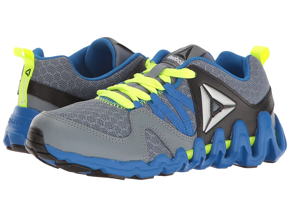 Reebok Kids - Zig Big N' Fast Fire (Little Kid) (Asteroid Dust/Silver Metallic/Awesome Blue/Black/Yellow) Boys Shoes