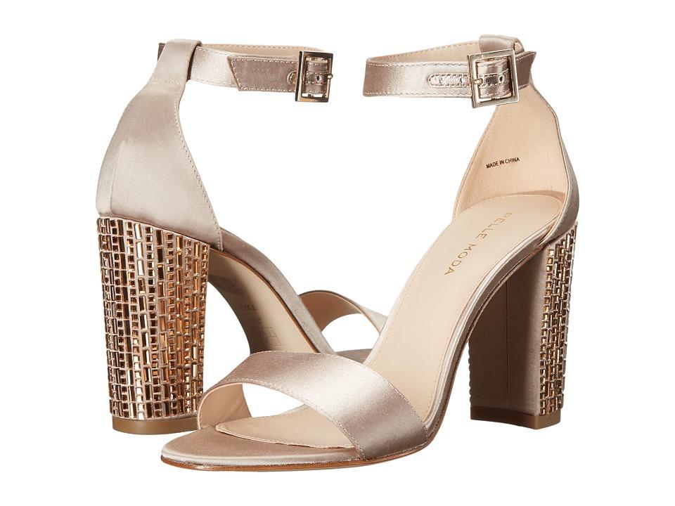 Pelle Moda - Bonnie 3 (Platinum Gold Satin) High Heels