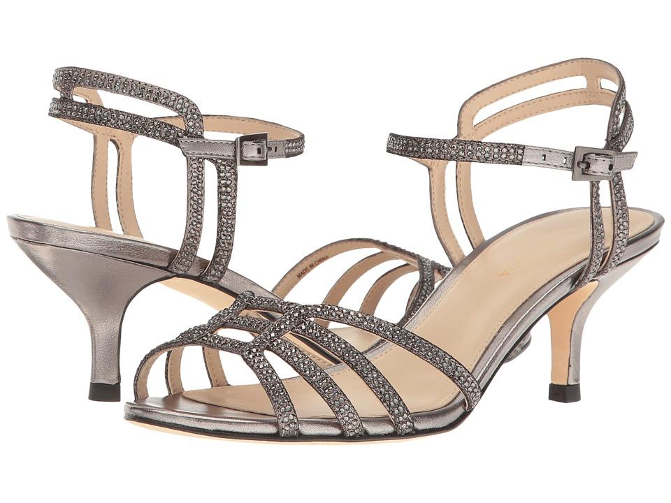 Pelle Moda - Alia (Pewter Metallic Suede) Women's 1-2 inch heel Shoes