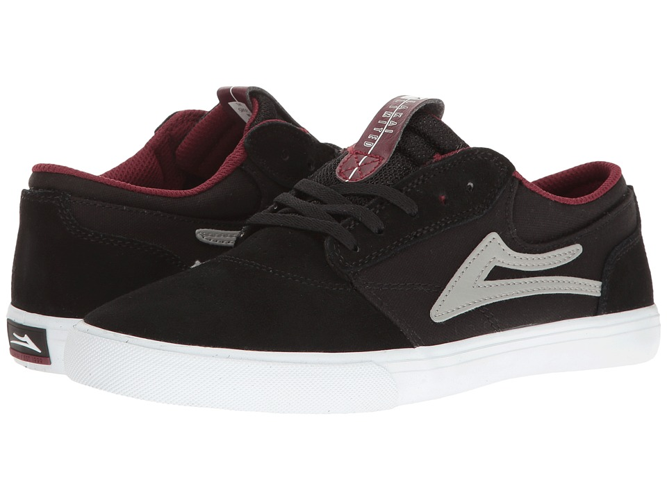 Lakai Griffin (Little Kid/Big Kid) (Black/White/Red Suede) Men