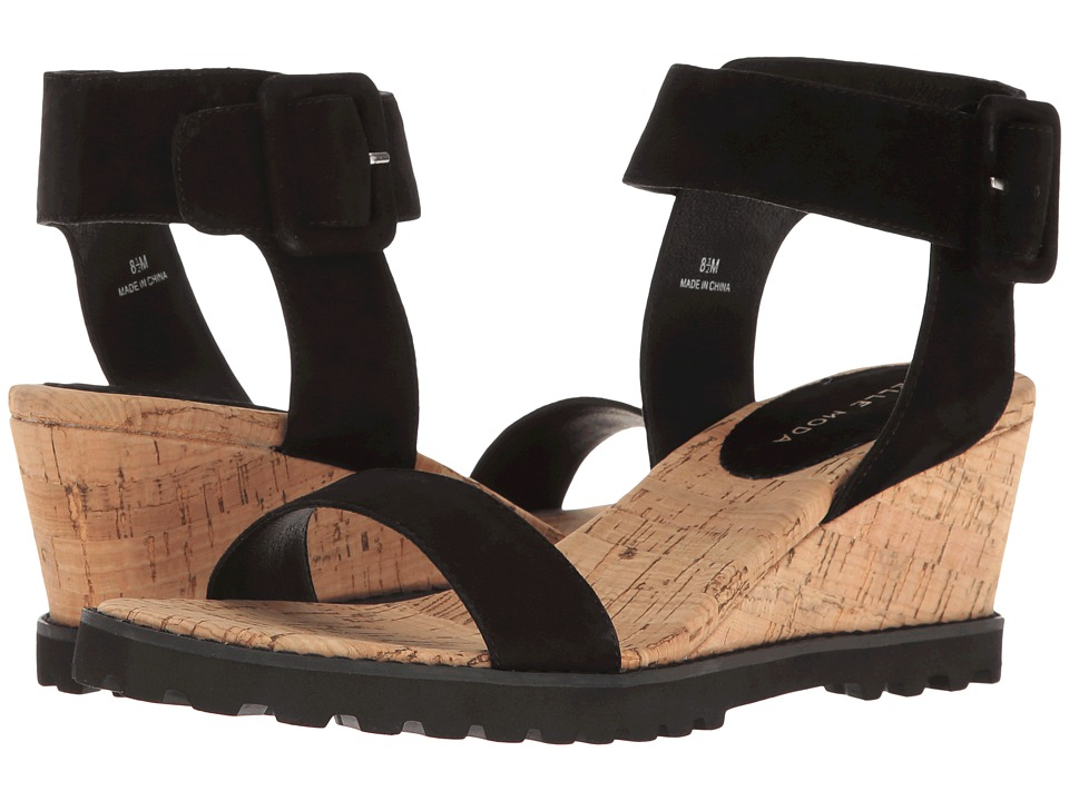 Pelle Moda - Rian (Black Suede) Women's Sandals