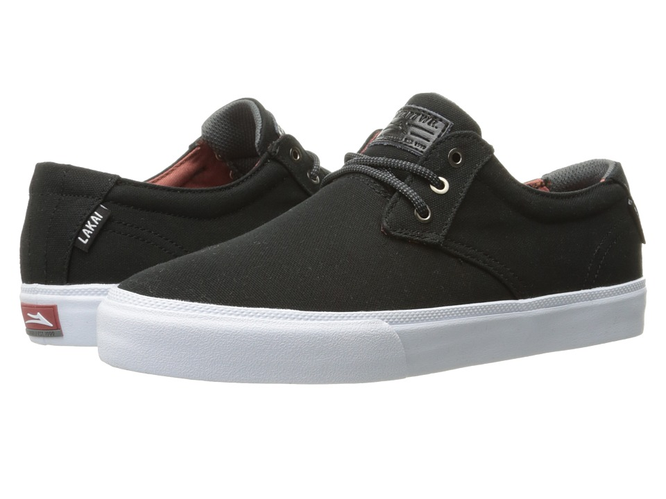 Lakai - Daly (Black Canvas) Men's Shoes