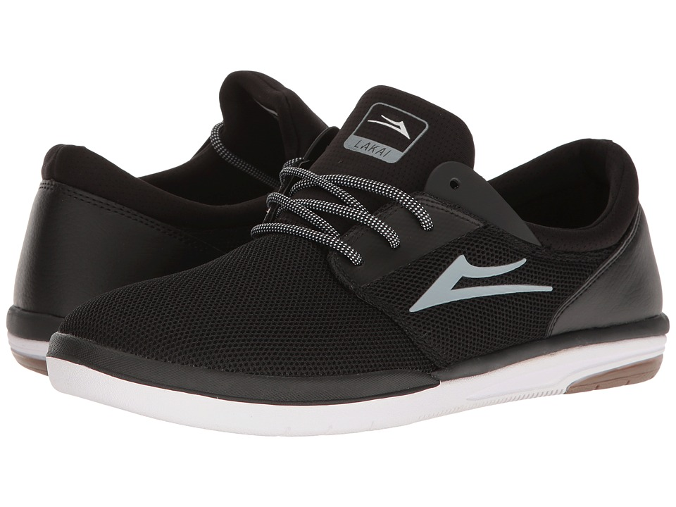 Lakai - Fremont (Black/White Mesh) Men's Skate Shoes