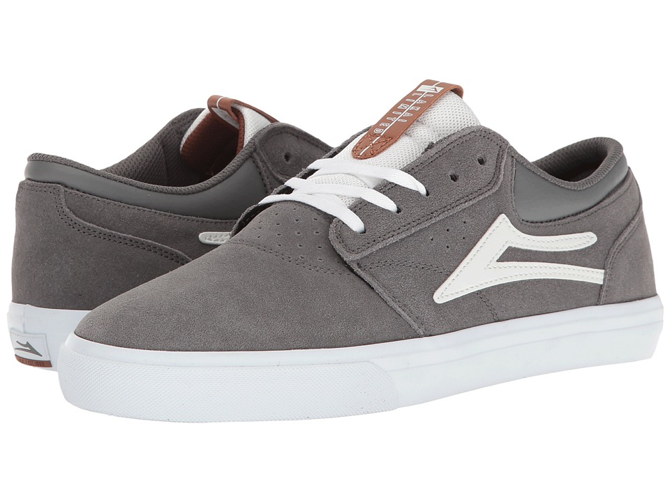 Lakai - Griffin (Grey/White Suede) Men's Skate Shoes