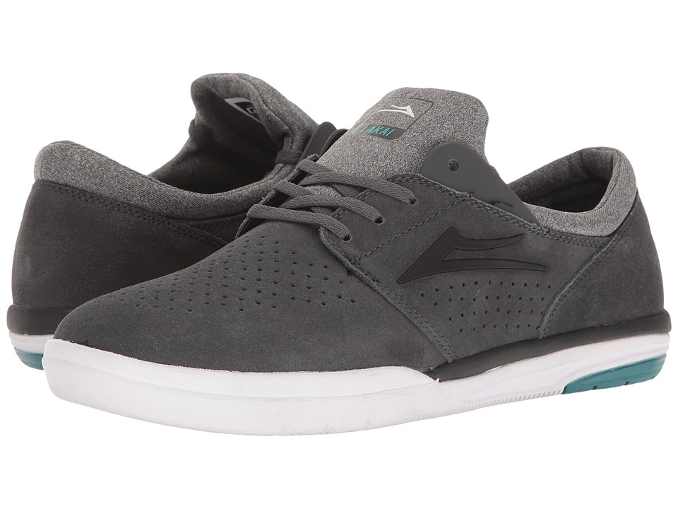 Lakai - Fremont (Charcoal Suede) Men's Skate Shoes