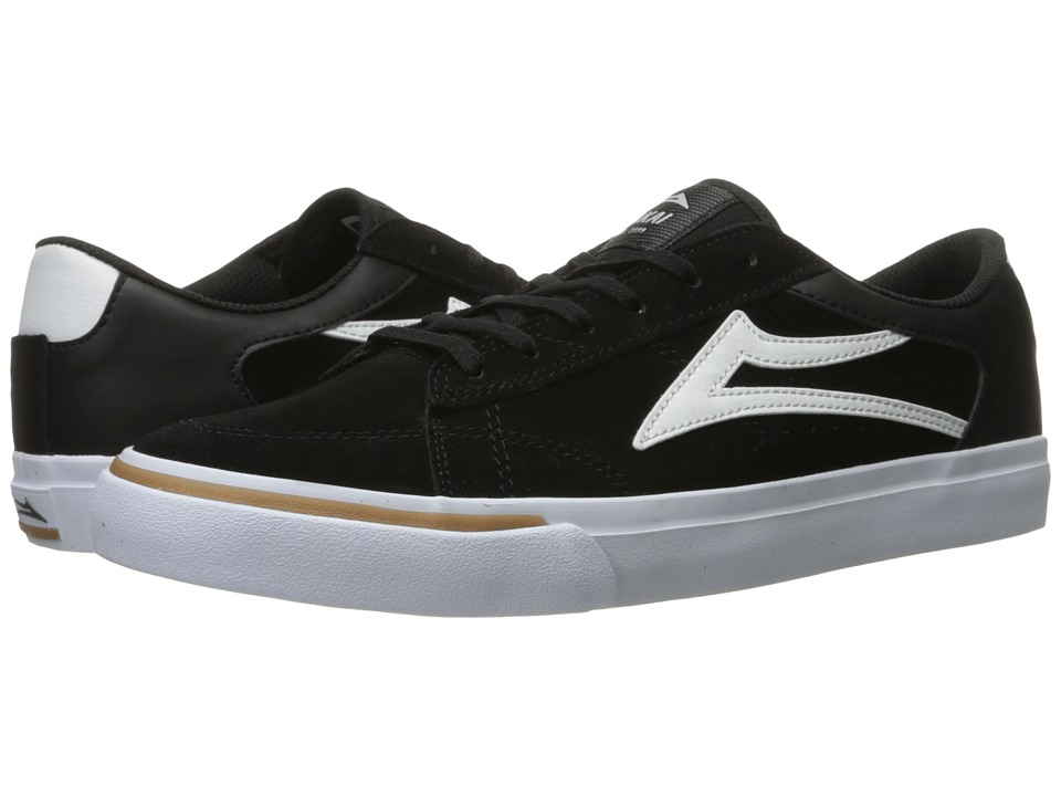 Lakai - Ellis (Black/White Suede) Men's Shoes