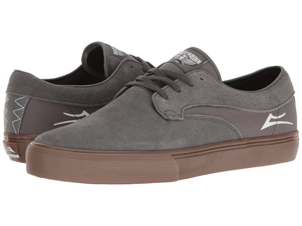 Lakai - Riley Hawk (Grey/Gum Suede) Men's Skate Shoes