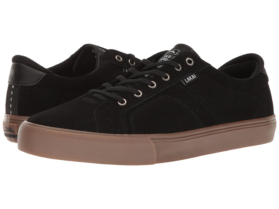 Lakai - Flaco (Black/Gum Suede) Men's Skate Shoes
