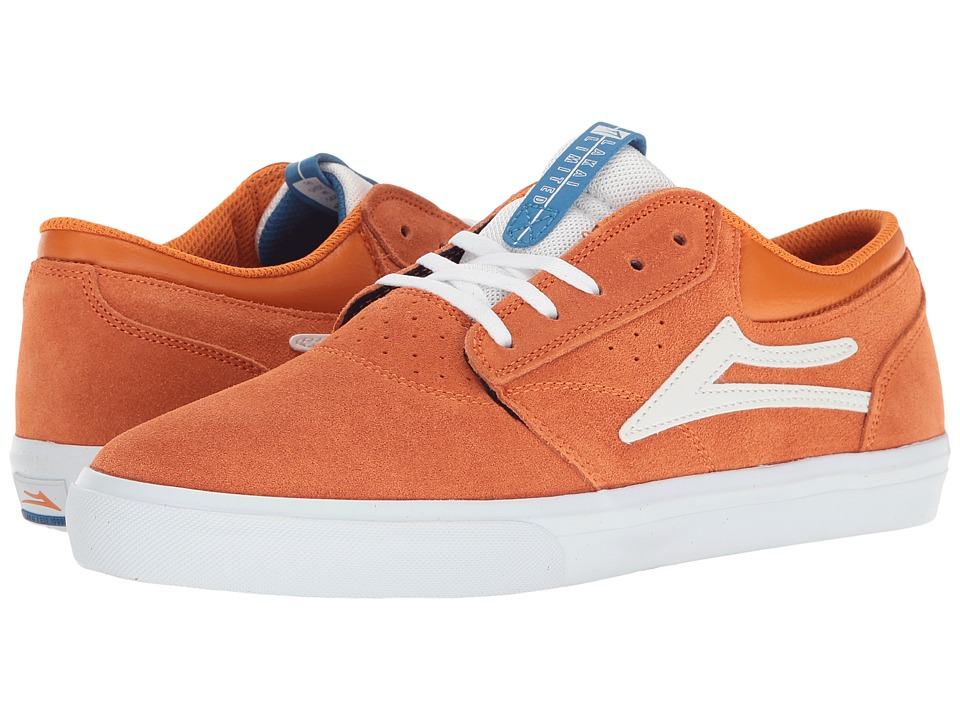 Lakai - Griffin (Orange Suede) Men's Skate Shoes