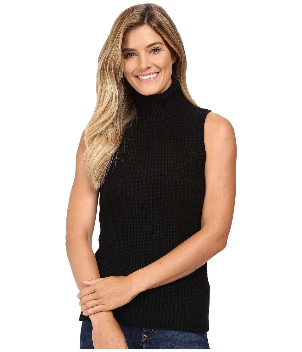 MICHAEL Michael Kors - Shaker Sleeveless Turtleneck (Black) Women's Sleeveless