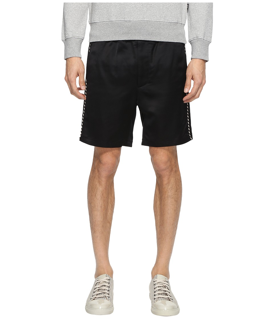 Marc Jacobs - Satin Suiting Shorts (Jet Black) Men's Shorts