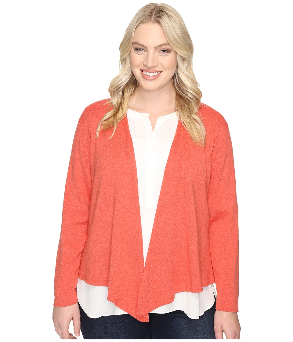 NIC+ZOE - Plus Size 4-Way Cardy (Spice Rose) Women's Sweater