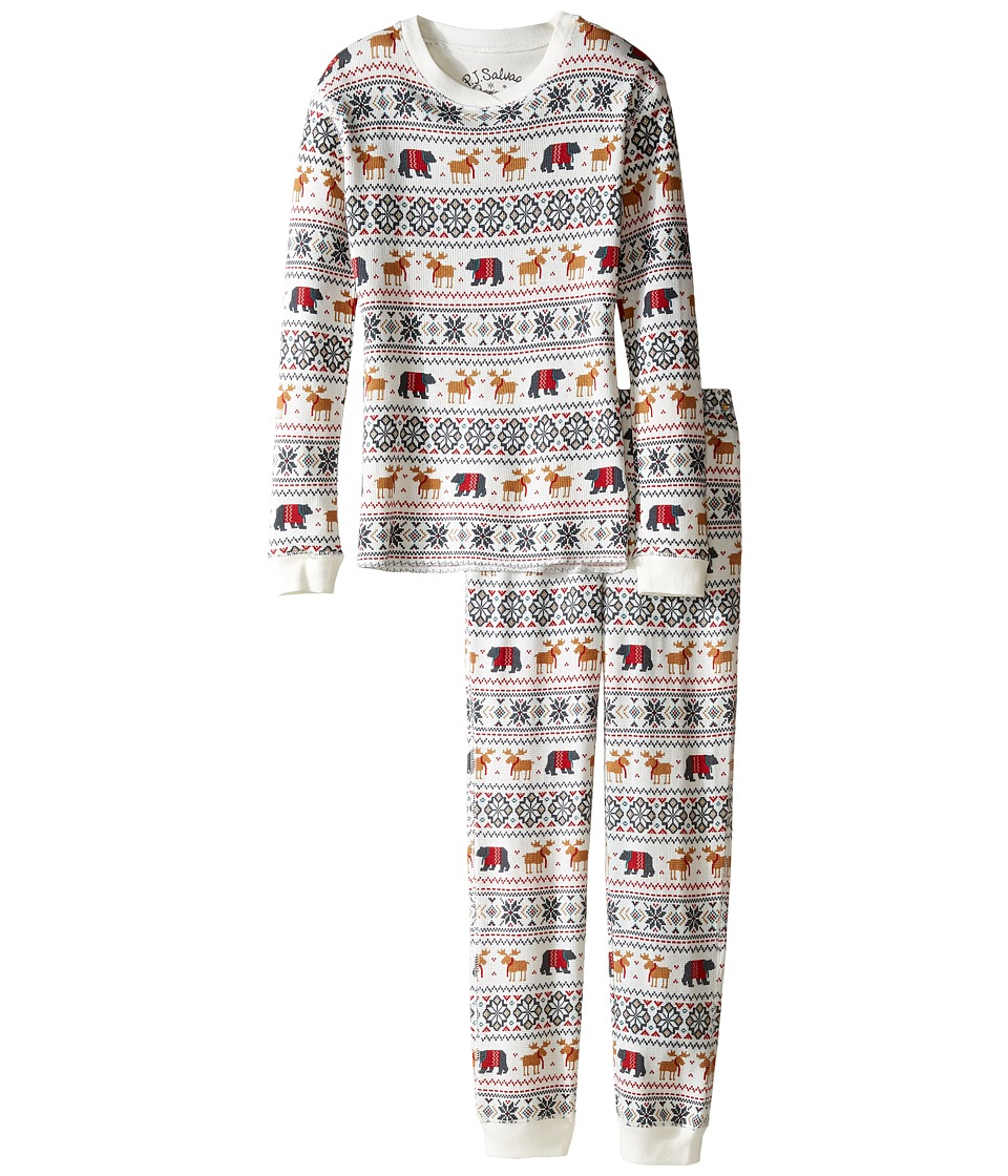 P.J. Salvage Kids - Thermal Sleep Set Fair Isle (Toddler/Little Kids/Big Kids) (Natural) Kid's Pajama Sets