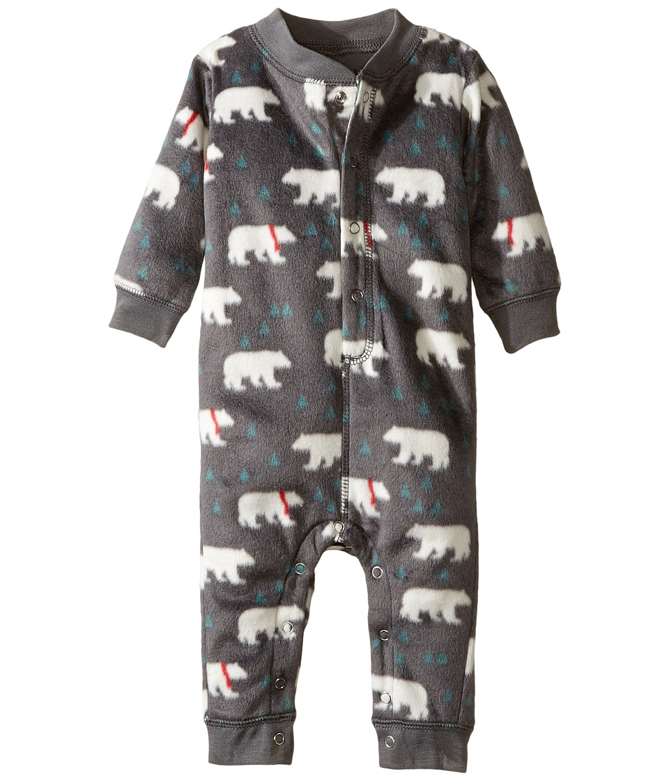 P.J. Salvage Kids - Polar Fleece Romper - Polar Bear (Infant) (Charcoal) Kid's Jumpsuit & Rompers One Piece