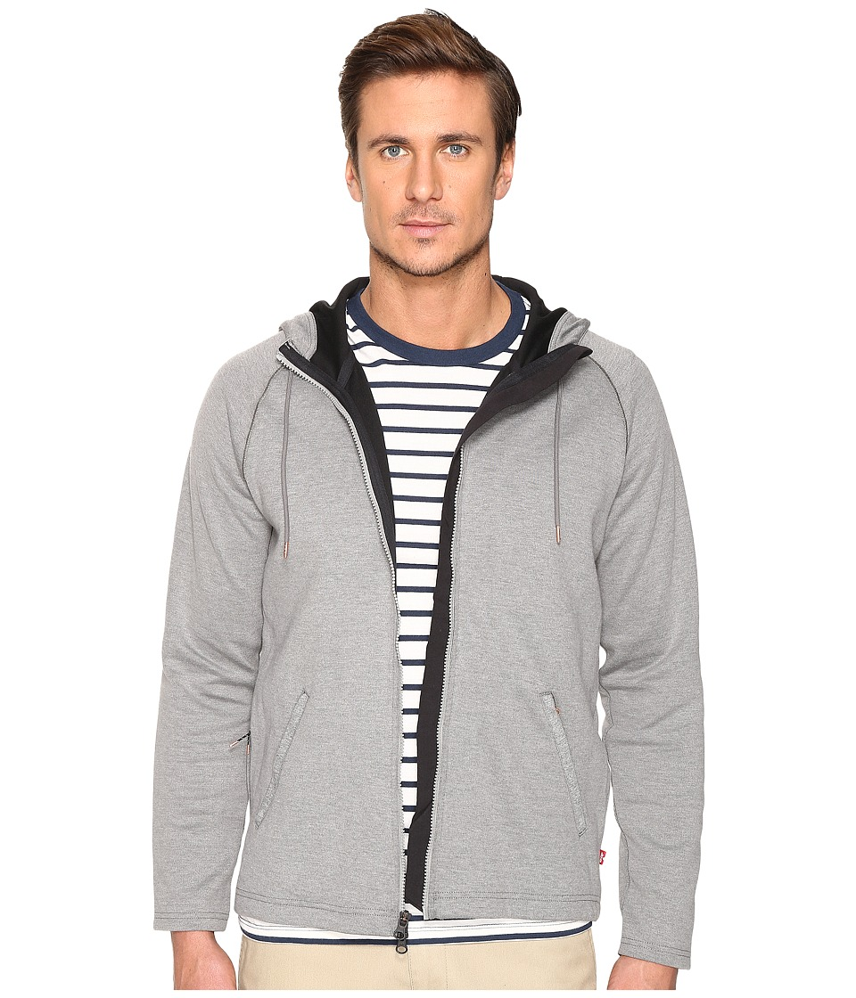 Levi's(r) Mens - Full Zip Hoodie - Commuter (Molleton Heather) Men's Sweatshirt