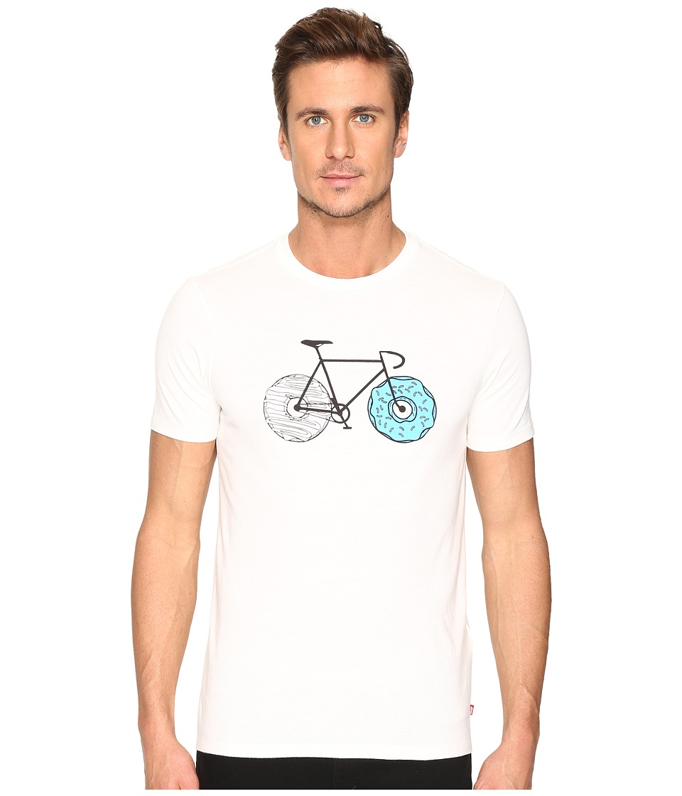 Levi's(r) Mens - Drop Hem Tee - Commuter (Cloud Dancer Donut Wheels) Men's T Shirt