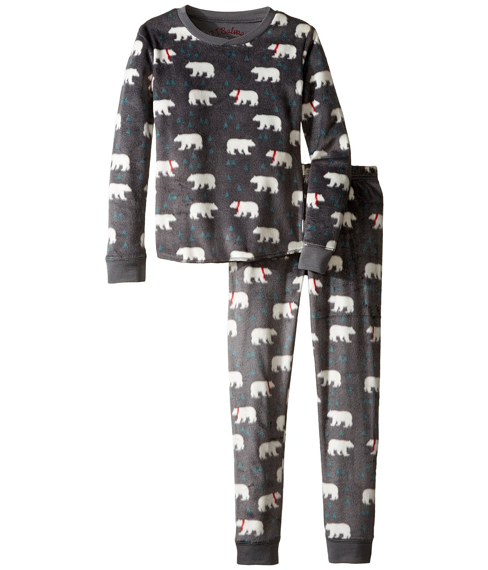 P.J. Salvage Kids - Polar Fleece Sleep Set - Polar Bear (Toddler/Little Kids/Big Kids) (Charcoal) Kid's Pajama Sets