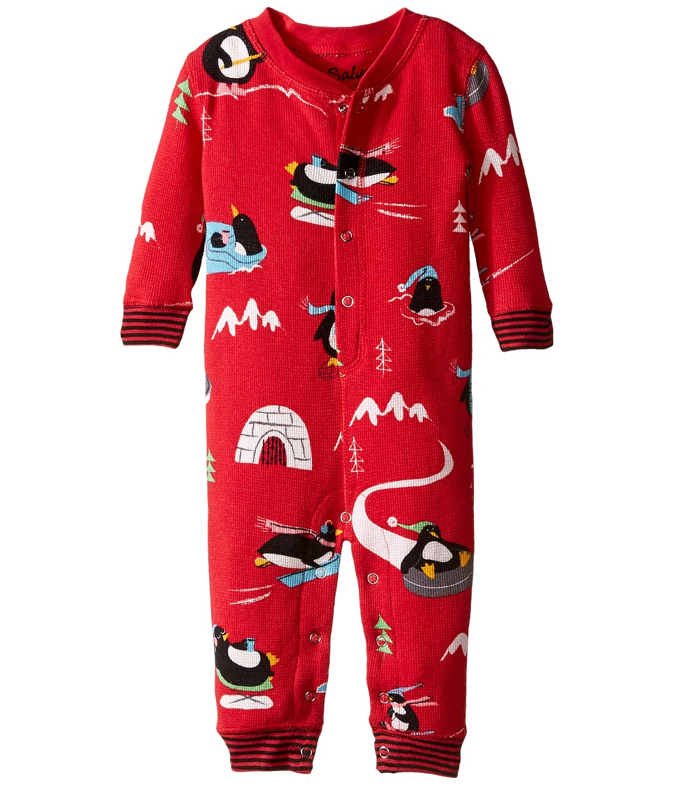 P.J. Salvage Kids - Romper - Penguin (Infant) (Brick) Kid's Jumpsuit & Rompers One Piece