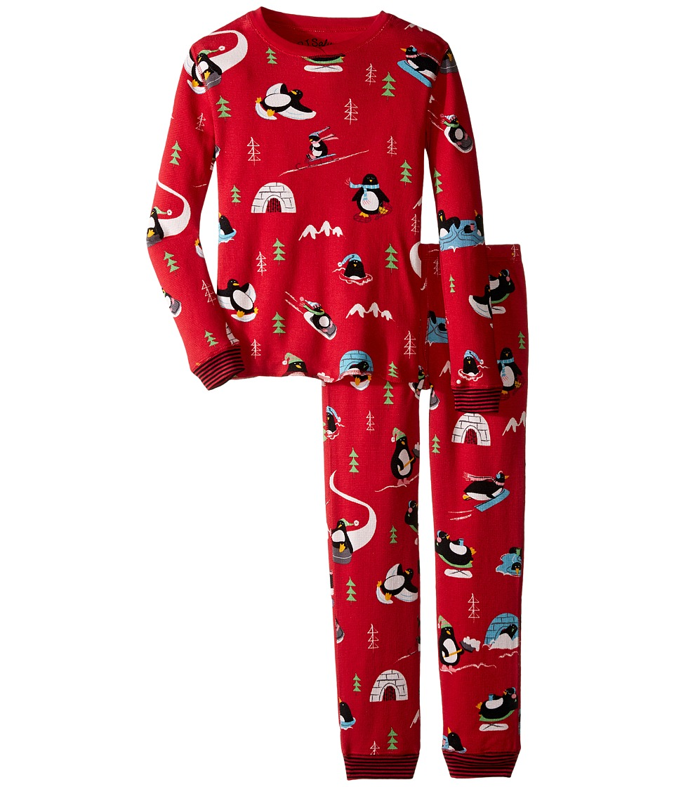 P.J. Salvage Kids - Thermal Sleep Set - Penguin (Toddler/Little Kids/Big Kids) (Brick) Kid's Pajama Sets