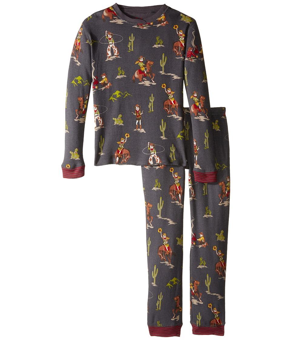 P.J. Salvage Kids - Thermal Sleep Set - Western (Toddler/Little Kids/Big Kids) (Charcoal) Boy's Pajama Sets