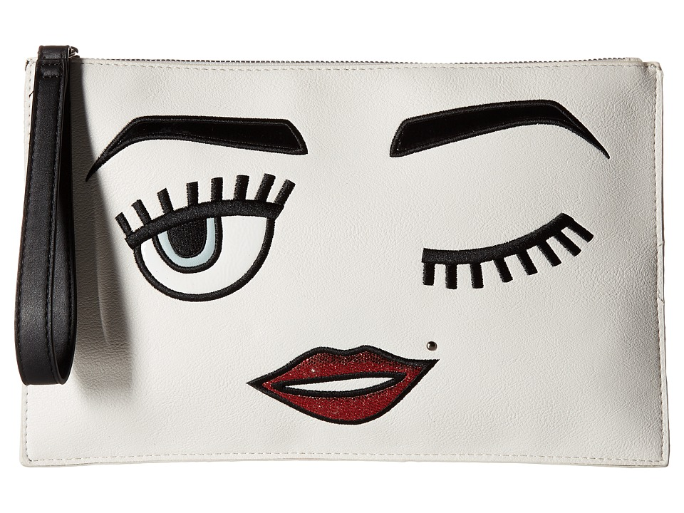 CARLOS by Carlos Santana - Novelty Large Clutch (Bone) Clutch Handbags