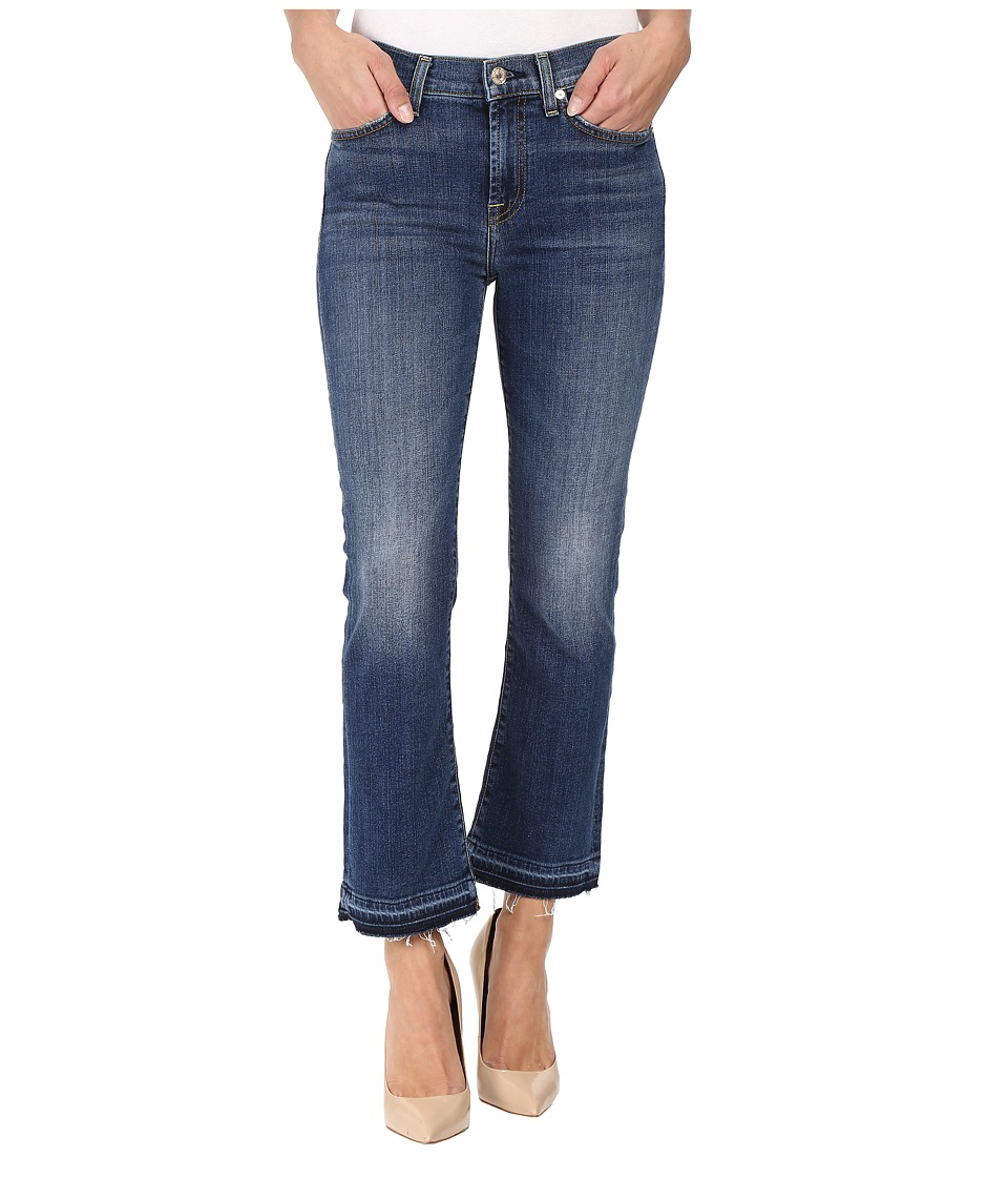 7 For All Mankind - Cropped Boot w/ Distress Released Hem in Manchester Square (Manchester Square) Women's Jeans