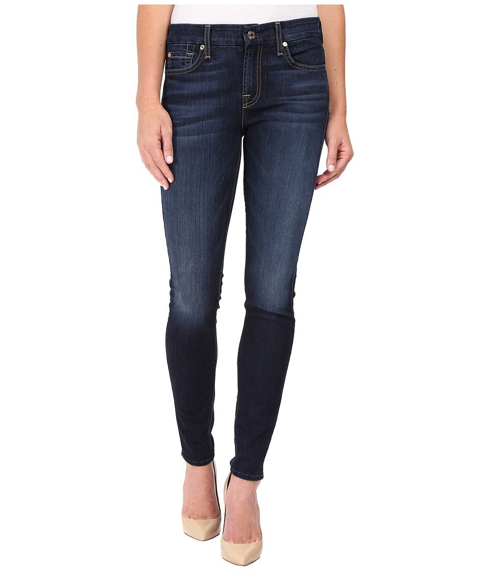 7 For All Mankind - The Skinny w/ Tonal Navy Squiggle in Dark Canterbury (Dark Canterbury) Women's Jeans