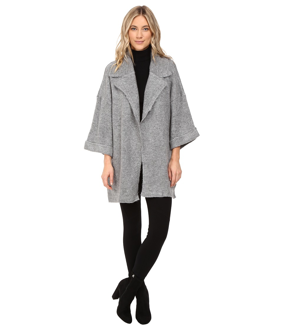 Mavi Jeans - Long Cardigan (Light Grey Melange) Women's Sweater
