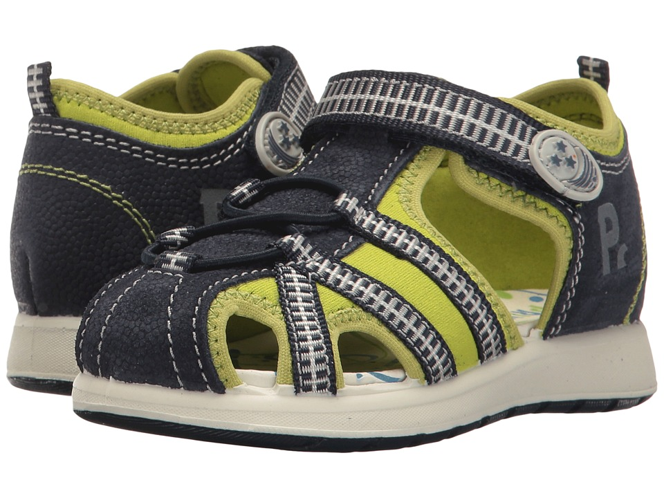 Primigi Kids - PAK 7569 (Infant/Toddler) (Blue/Lime) Boy's Shoes