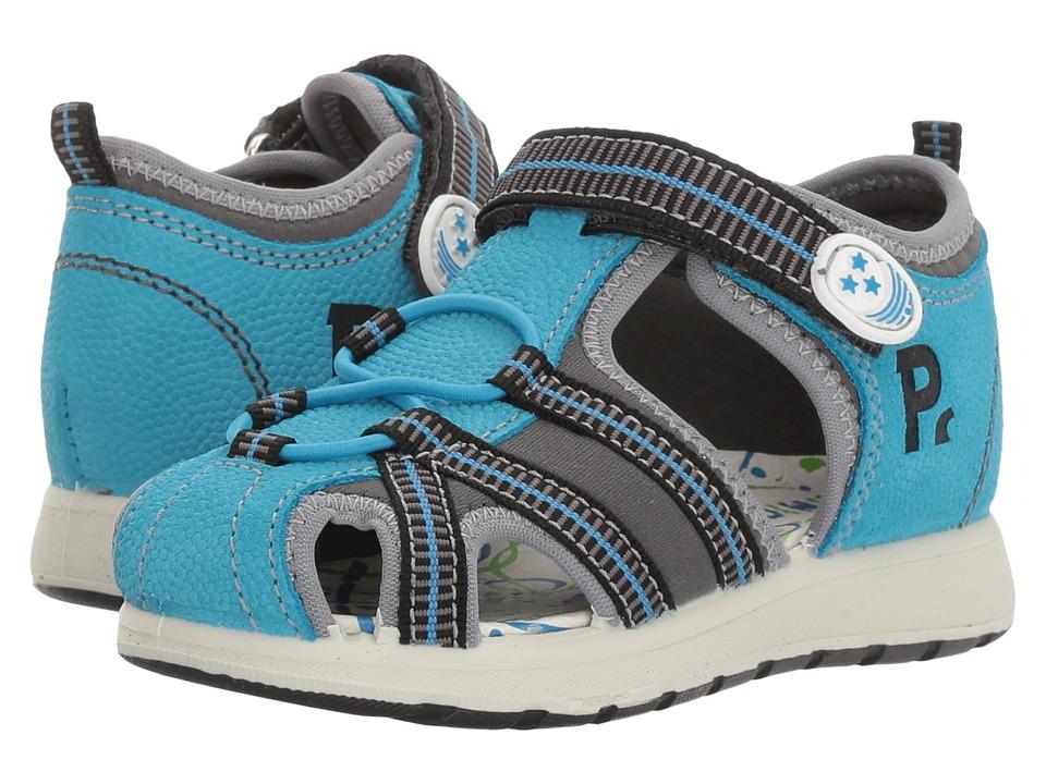 Primigi Kids - PAK 7569 (Infant/Toddler) (Turquoise/Grey) Boy's Shoes