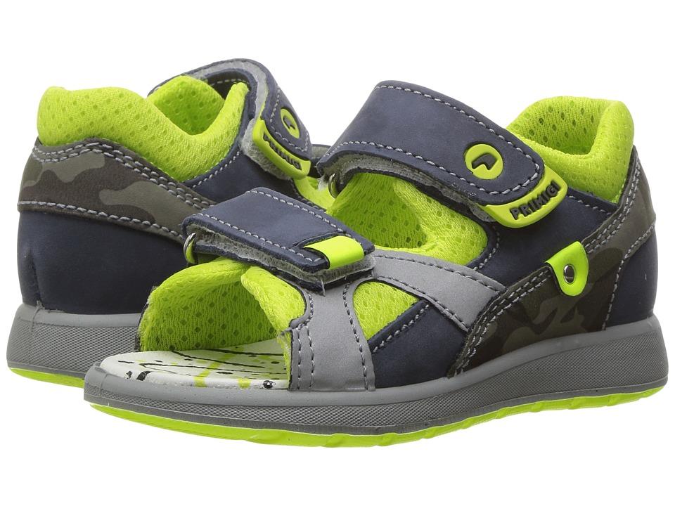 Primigi Kids - PAK 7568 (Infant/Toddler) (Blue/Camo) Boy's Shoes